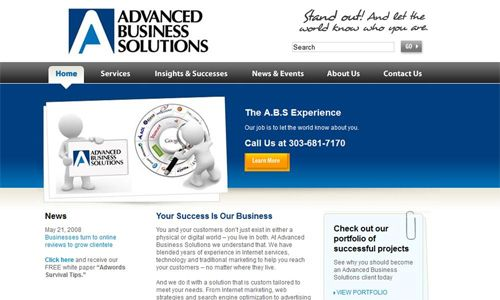 AdvancedBusinessSolutions.com Screenshot