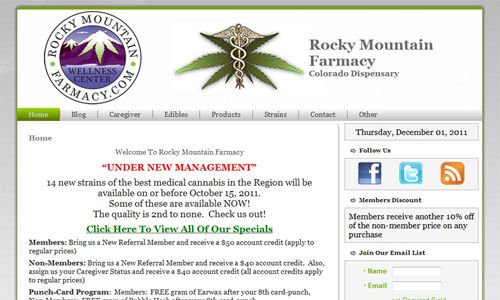 RockyMountainFarmacy.com Screenshot
