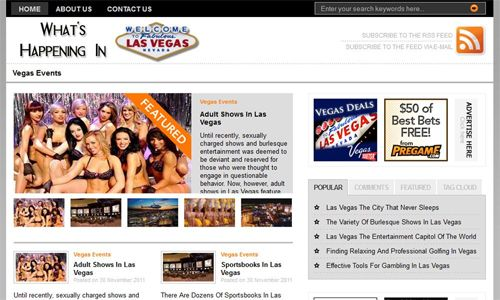 WhatsHappeningInLasVegas.com Screenshot