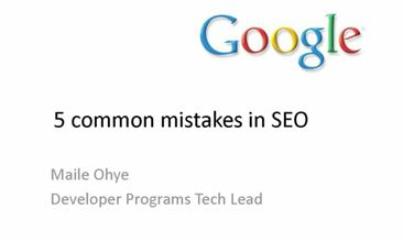 5 Common Mistakes Made In SEO