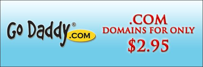 GoDaddy Cheap $2.95 Domain Promo